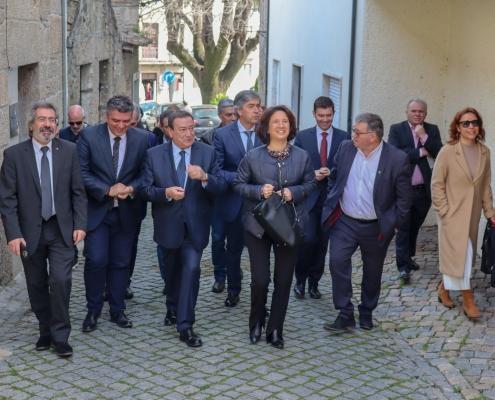 A chegada a Belmonte da Senhora Secretária de Estado do Turismo, Eng. Rita Marques