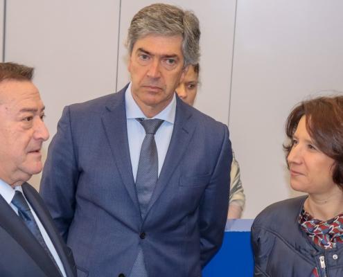 O Presidente da Câmara Municipal de Belmonte, Dr. António Rocha, o Presidente do Turismo Centro de Portugal, Dr. Pedro Machado e a Senhora Secretária de Estado do Turismo, Eng. Rita Marques