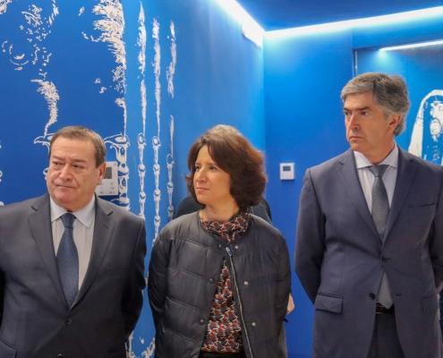 O Presidente da Câmara Municipal de Belmonte, Dr. António Rocha,a Senhora Secretária de Estado do Turismo, Eng. Rita Marques e o Presidente do Turismo Centro de Portugal, Dr. Pedro Machado